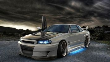 Photo free Nissan Skyline, tuning, doors