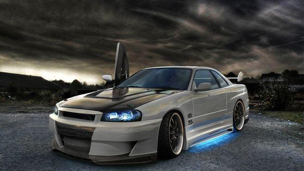 Photo free Nissan Skyline, tuning, doors