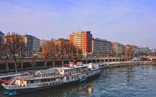 Фото бесплатно река, канал, параход