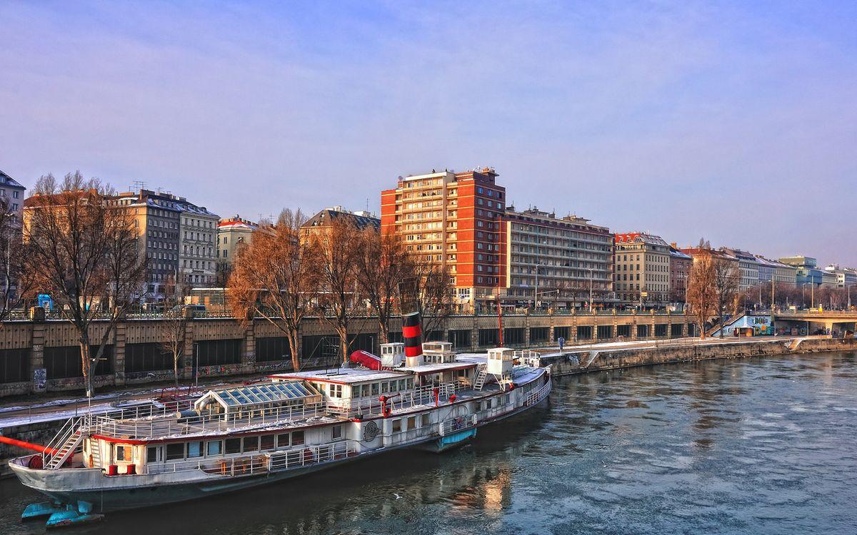 Фото бесплатно река, канал, параход - на рабочий стол
