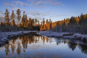 Бесплатные фото закат,река,лес,деревья,пейзаж