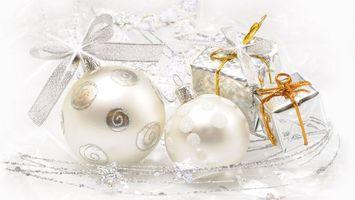 Фото бесплатно новый год, игрушки, декор