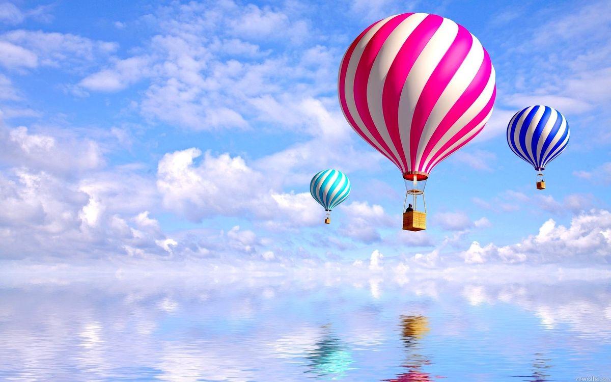 Фото бесплатно шары, воздухоплавательные, корзины - на рабочий стол