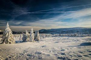 Фото бесплатно зима, поле, горы