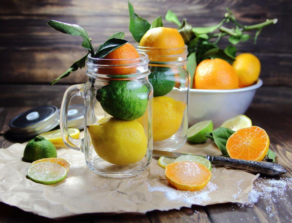 Фото бесплатно цитрусовые, мандарины, лайм - на рабочий стол