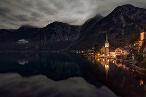 Фото бесплатно Альпы, озеро, озеро Гальштат