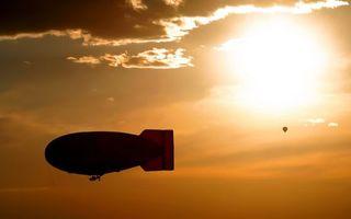 Фото бесплатно дирижабль, воздушный шар, закат