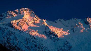 Бесплатные фото закат,тень,горы,снег