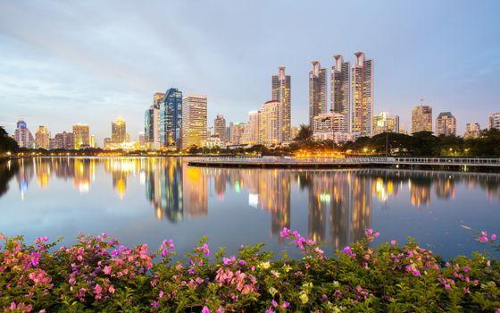 Фото бесплатно Бангкок, вечер, небоскребы