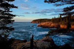 Фото бесплатно закат, море, волны