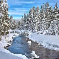 Фото бесплатно снег, река, пейзаж