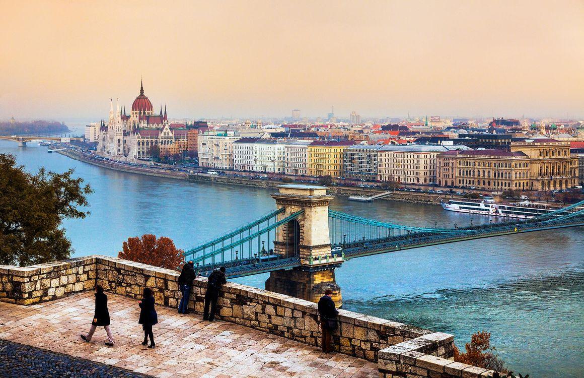 Фото бесплатно Будапешт, Венгрия, Цепной мост, здание Парламента Венгрии, город