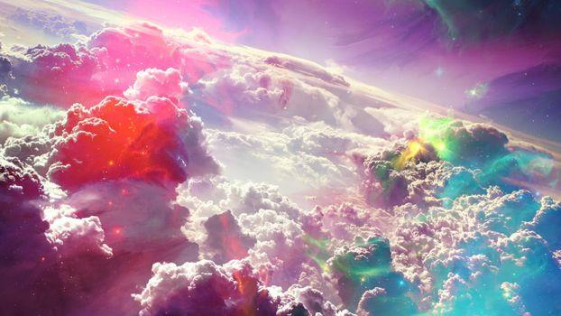 Бесплатные фото облака,космос,высота