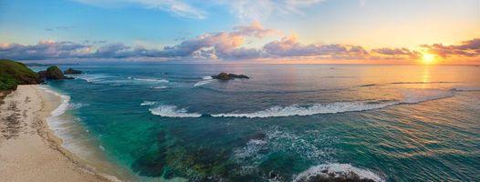 Бесплатные фото остров,море,океан,берег,пляж,закат,пейзаж