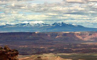 Бесплатные фото каньон, долина, горы, вершины, снег, небо, облака