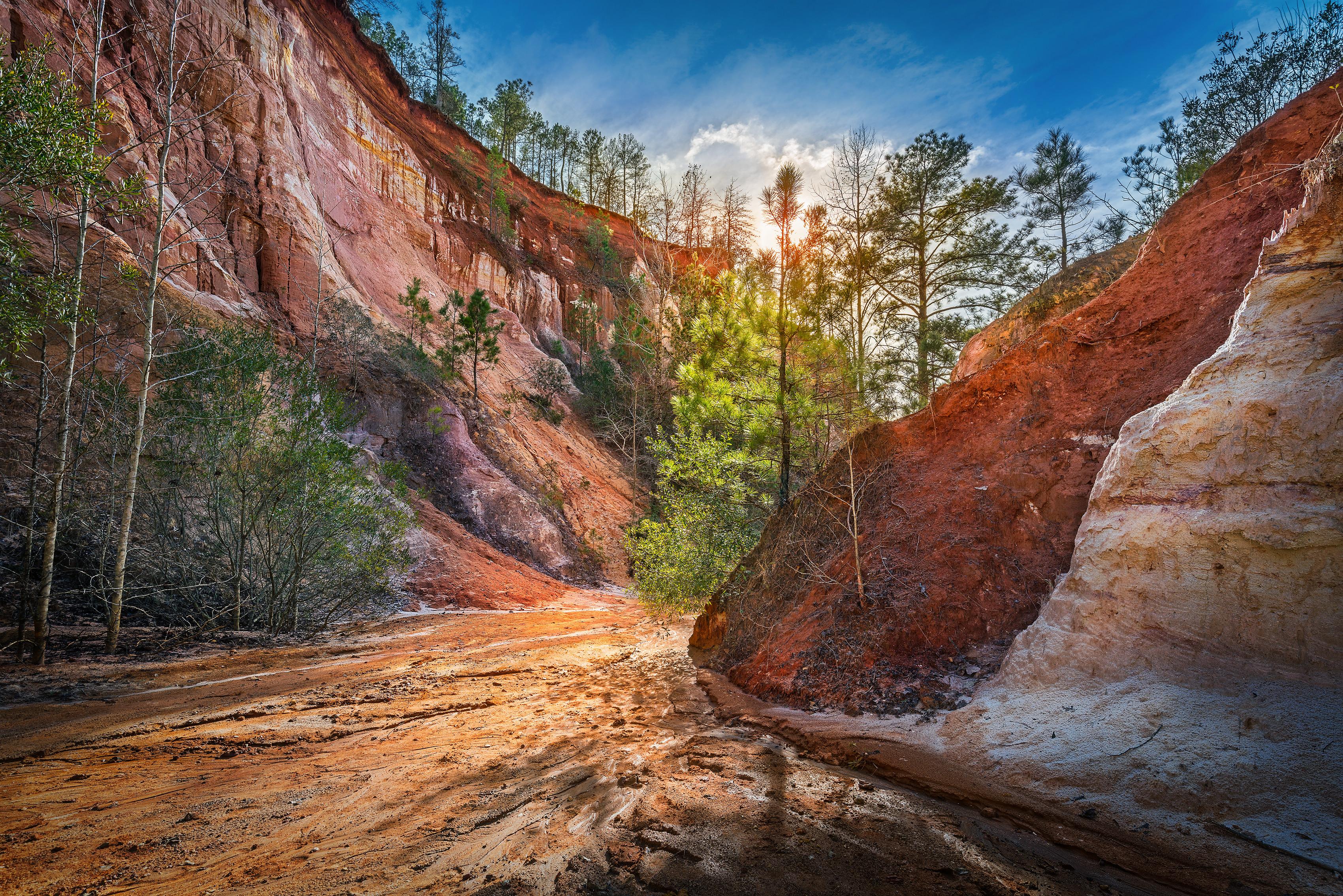 обои Государственный парк, Каньон, Грузия, закат картинки фото