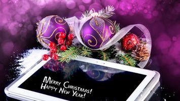 Фото бесплатно новый год, шарики, дизайн
