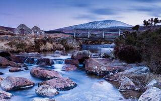 Фото бесплатно река, течение, камни