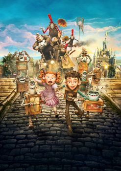 Photo free cartoon, Family of monsters, adventure