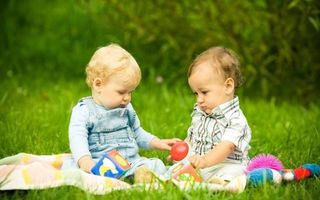 Photo free children, lawn, grass