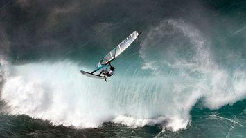 Заставки серфер,доска,парус,море,волна,брызги