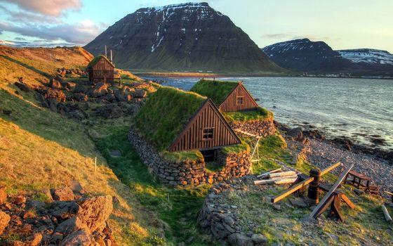 Фото бесплатно берег, дома, каменные
