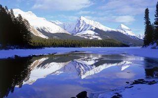 Заставки зима, река, лед