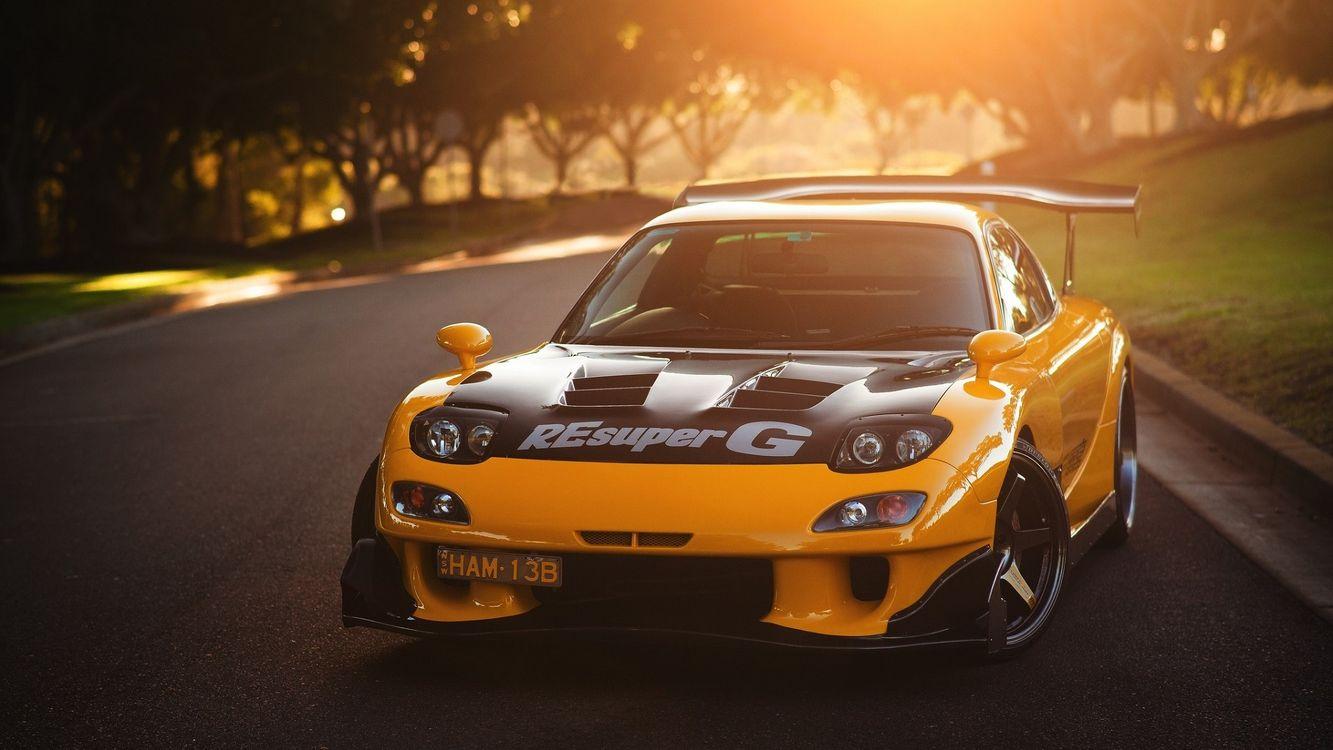 Фото бесплатно Mazda FD RX-7, спортивный, мазда, rx7, mazda, суперкар, асфальтированная дорога, машины