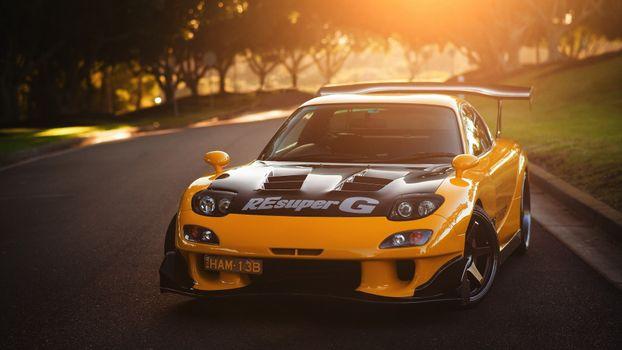 Бесплатные фото Mazda FD RX-7,спортивный,мазда,rx7,mazda,суперкар,асфальтированная дорога