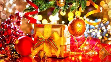 Фото бесплатно Ёлка, новогодние обои, фон