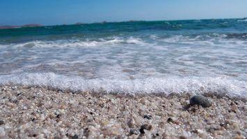 Бесплатные фото берег,песок,море,волны,пена,горизонт