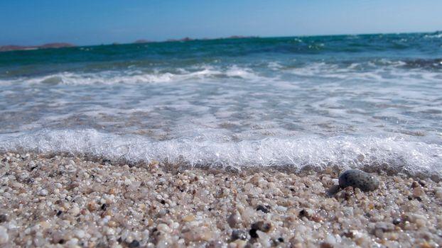 берег, песок, море, волны, пена