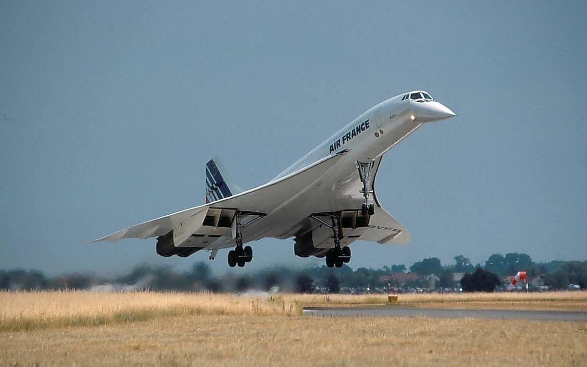 Фото бесплатно самолет сверхзвуковой, пассажирский, Конкорд, крылья, турбины, шасси, взлет, авиация