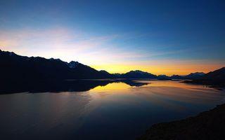 Фото бесплатно вечер, озеро, лед
