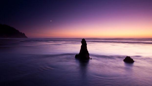 Заставки море, вечер, зарево