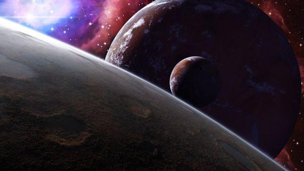 Фото бесплатно планеты, спутники, неизвестные миры