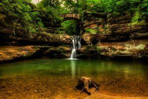 Бесплатные фото Upper Falls,Old Mans Cave,Hocking Hills State Park,ohio waterfalls,водопад,водоём,скалы