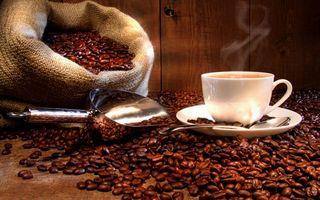 Бесплатные фото блюдце,ложечка,чашка,кофе,пар,зерна,мешок