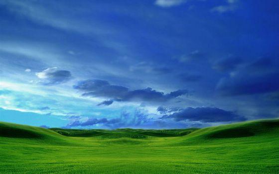 Фото бесплатно зеленый, холмы, небо