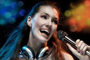 Photo free beautiful girl, singing, music