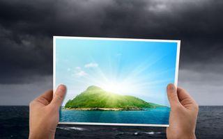 Бесплатные фото море,тучи,руки,фото,остров,солнце