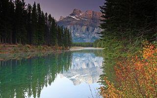 Бесплатные фото река, гладь, отражение, лес, деревья, горы, скалы
