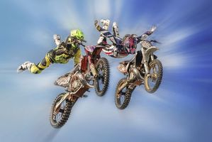 Бесплатные фото трюк, мотокросс, мотоцикл