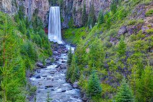 Бесплатные фото Tumalo Falls,Oregon,водопад,ручей,Орегон,вода,река
