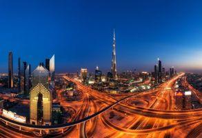 Фото бесплатно Dubai, город, ночь, огни