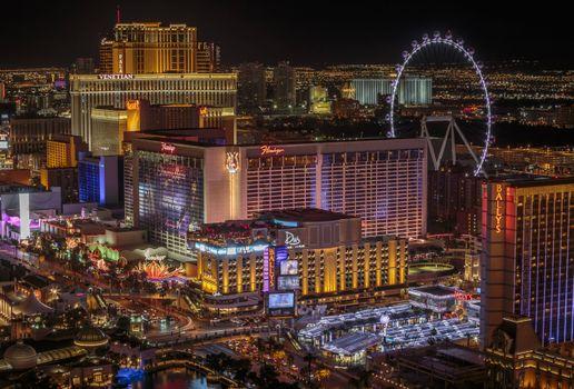 Фото бесплатно ночь, город, Лас-Вегас