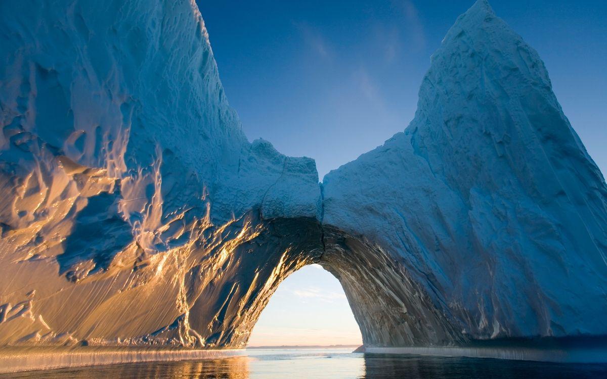 Фото бесплатно океан, вода, айсберг, лед, арка, небо, природа