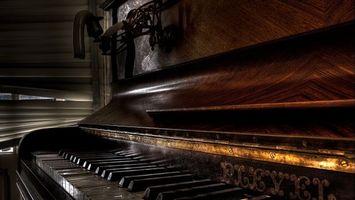 Фото бесплатно комната, пианино, клавиши