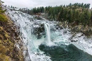 Бесплатные фото Водопад Сноквалми,Snoqualmie Falls,США,штат Вашингтон