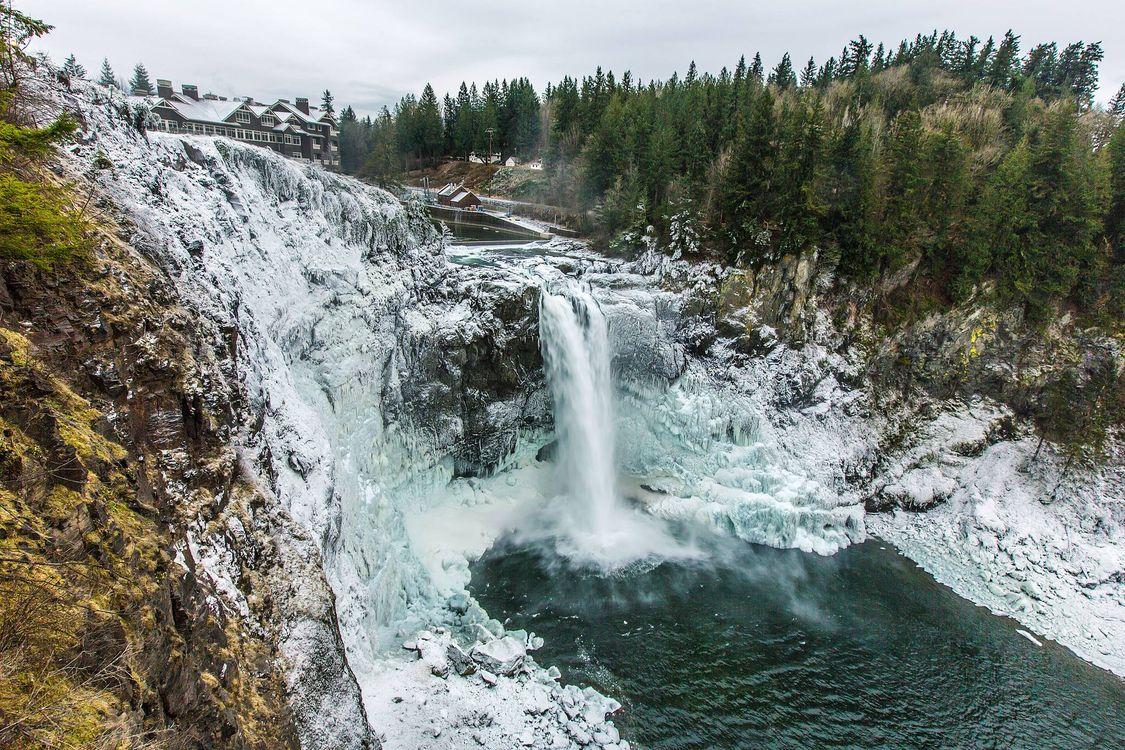 Фото бесплатно Водопад Сноквалми, Snoqualmie Falls, США, штат Вашингтон, пейзажи - скачать на рабочий стол